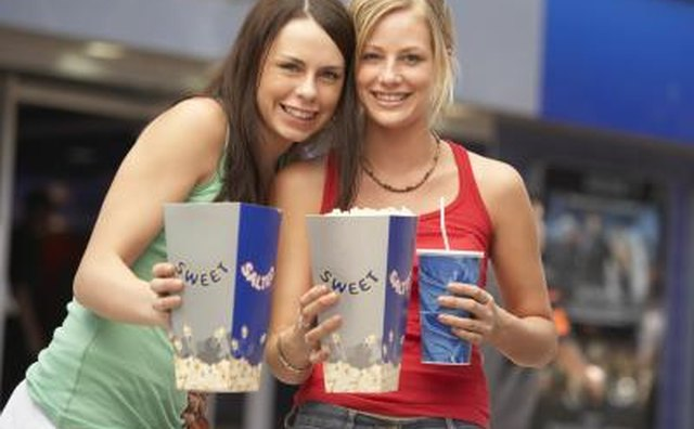 friends at movie theater