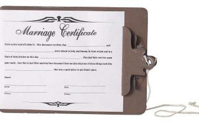 A marriage contract is a legal document.