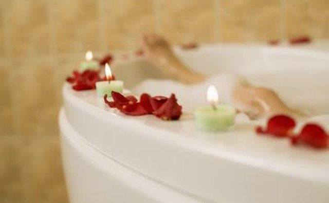Create the relaxing allure of luxurious spa by adding just a few simple amenities.