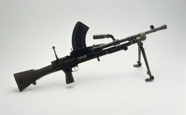 The British Bren LMG fires .303cal ammunition.