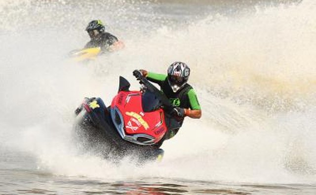 Jet ski riders on Australia river