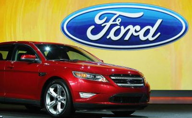 Ford Taurus in show room