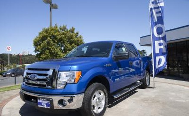 Ford F-Series at dealership