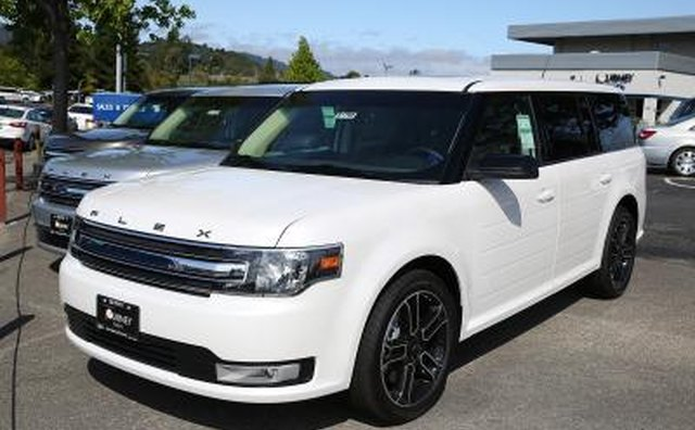 Ford Flex SUV on car lot