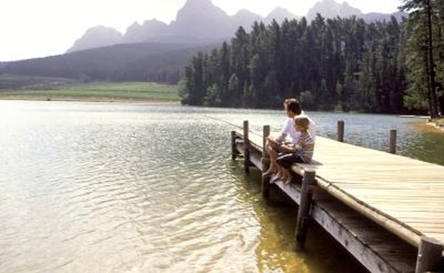 Take the family on a fishing trip in a private or nudist-friendly lake.