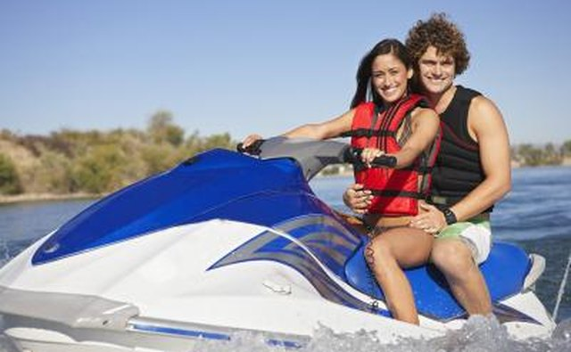 couple on jet ski in Caloosahatchee River