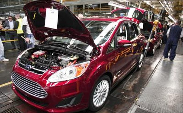 Ford C-Max hybrid at Michigan manufacturing plant