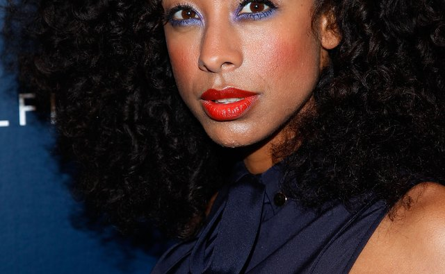 Corinne Bailey Rae backstage at the Tommy Hilfiger Spring 2012 fashion show during Mercedes-Benz Fashion Week.