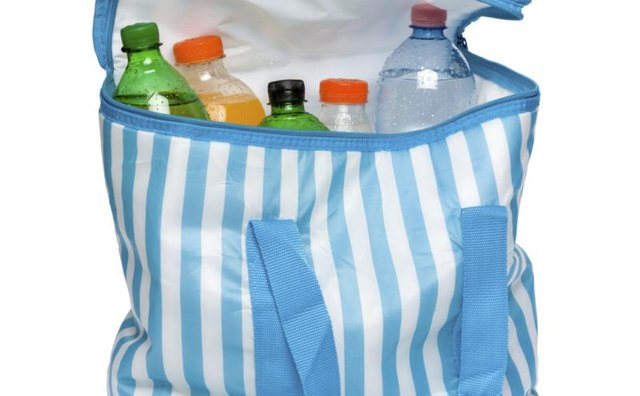 Put bottled or canned beverages in a soft-sided cooler to prevent freezing.