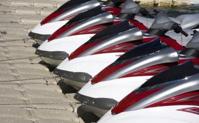 Group of jet ski's at dock