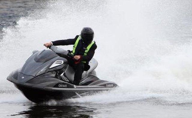 Jet ski rider making waves