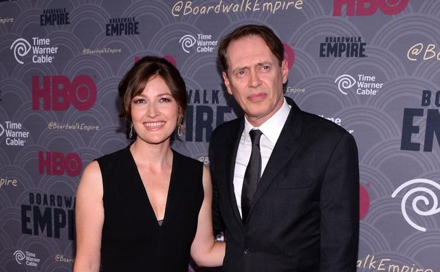 Stars Kelly Macdonald and Steve Buscemi at the Season 4 premiere of