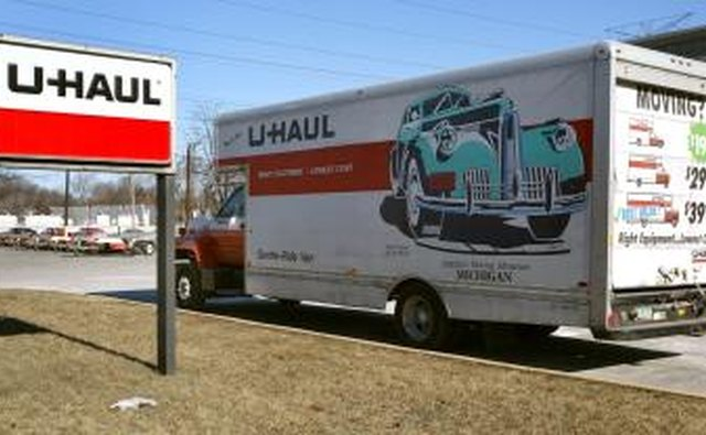 U-Haul truck parked in front of store in Illinois