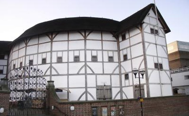 The exterior of the historic Elizabethan Globe Theater in London.