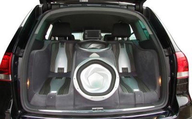 car sound system. an external amplifier can improve the sound quality and power greatly. car system
