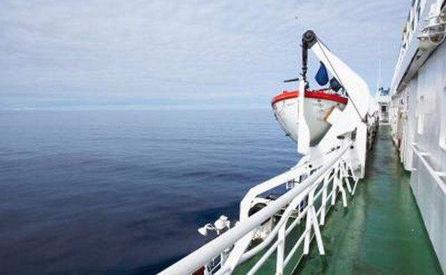 A passageway on a ship.