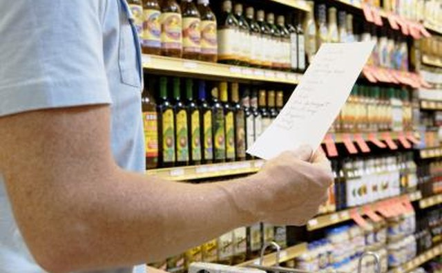 When shopping, have a meal list and only use money set aside for your budget.