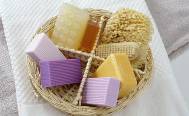 Basket of bath products