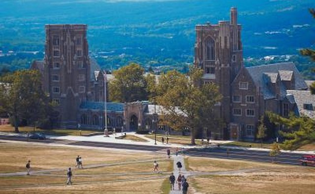 Wide shot of Cornell University campus