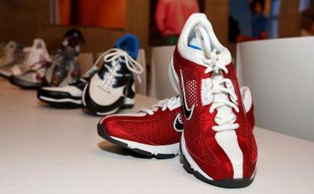 Row of Nike footwear