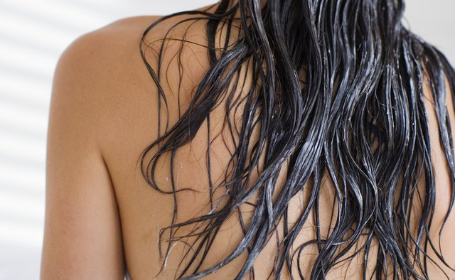 To condition the hair, start with the tips and work your way up, stopping short of the scalp.