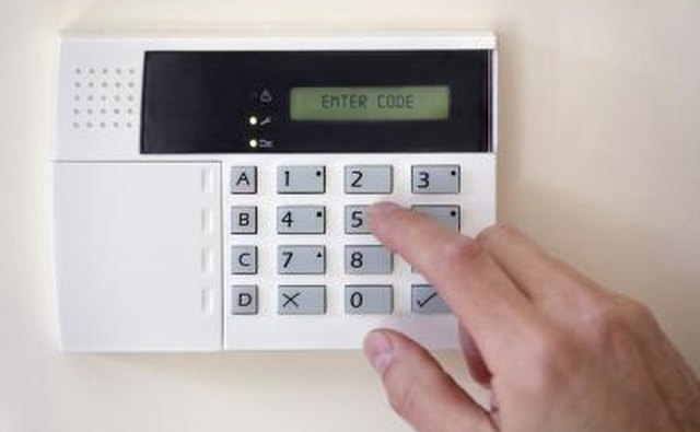 Alarm code gets entered into control panel