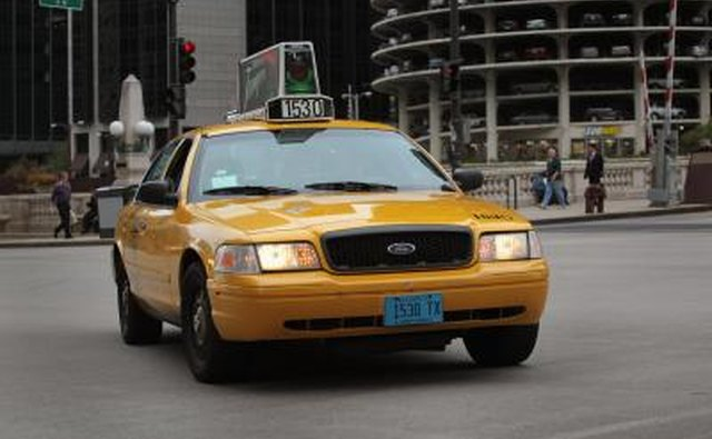 Ford Crown Victoria used as taxi cab