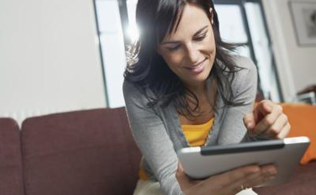 Woman reading online