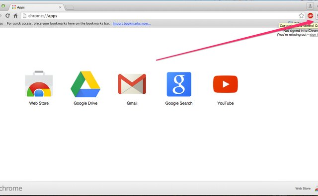 The Chrome Menu button is located in the top-right corner.