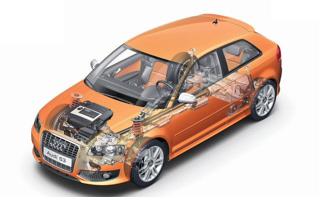 An inside look at the compact Audi A3.