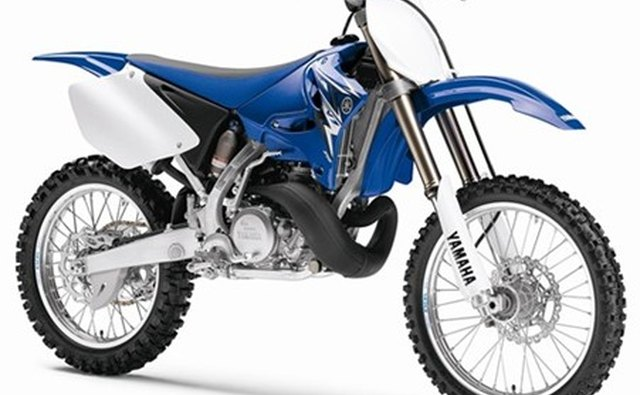 The 2007 Yamaha 250 has longer front forks than a street bike.