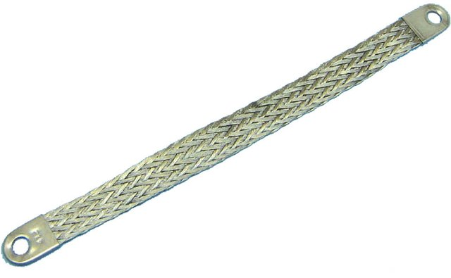 Tinned Copper Braided Ground Strap