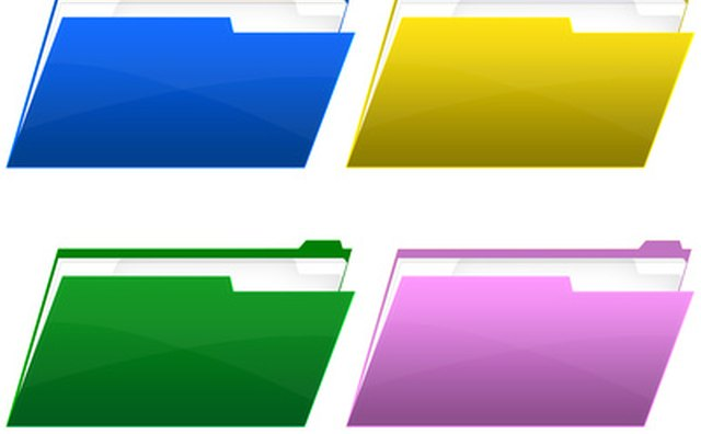Color coded file folders