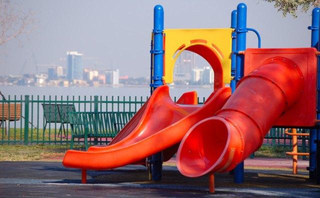 The daycare's playground has to meet certain criteria.