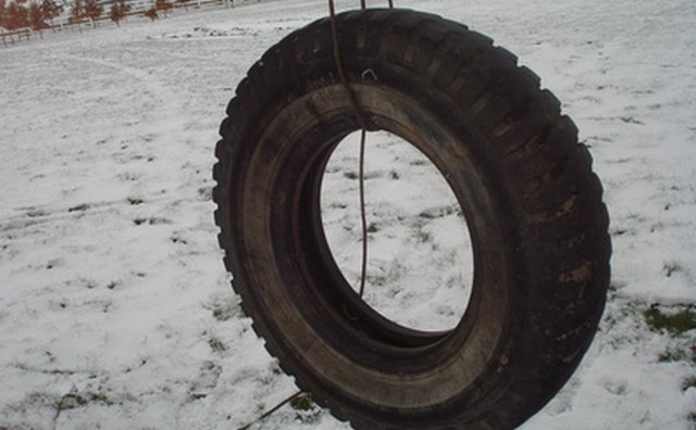 One-rope tire swings are just as fun as fancier ones.