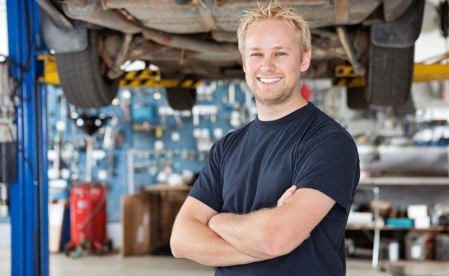 Portrait of Smiling Mechanic