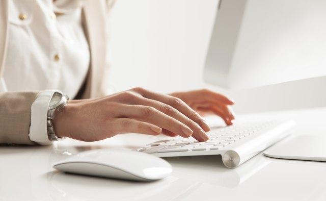 Businesswoman Typing