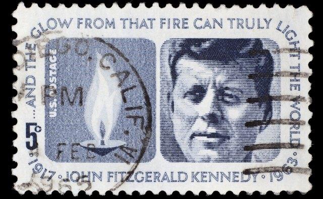 US postage stamp: John F. Kennedy