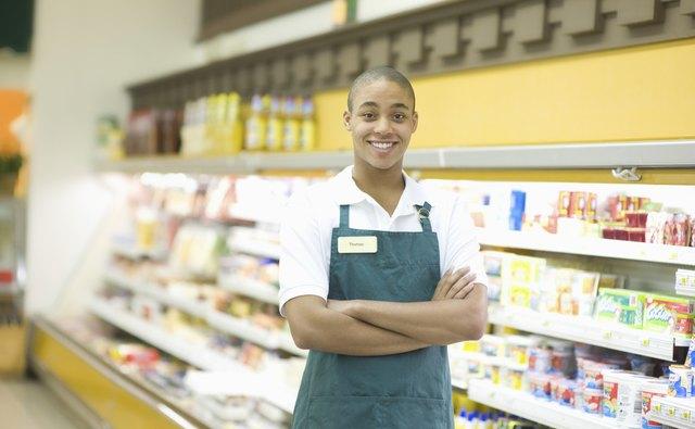 Teenage Supermarket Employee