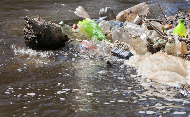garbage in water