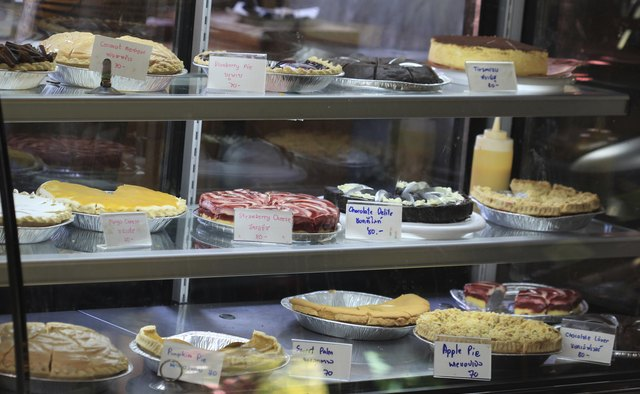 many cake and pie in shop