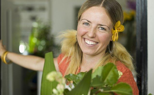 Portrait of smiling florist