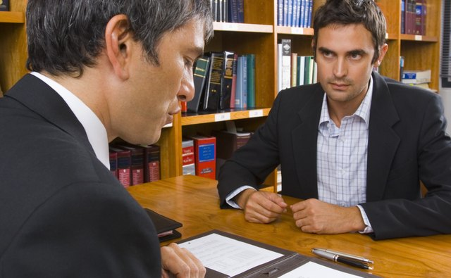Man with lawyer