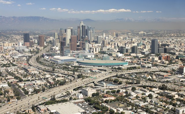 Downtown Los Angeles Aerial View