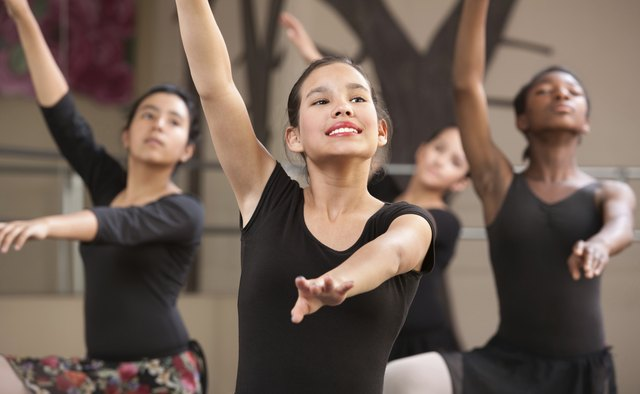 Four Dancers Rehearsing