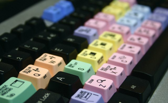 Coloured Keys Video Editing Keyboard