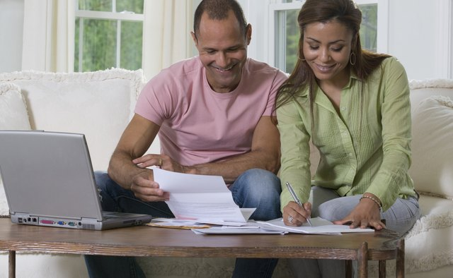 couple reviewing investment options
