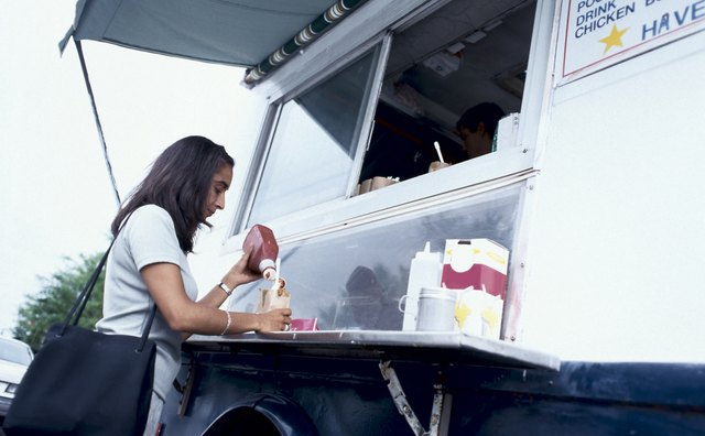 Food trucks provide a wide variety of menu items.