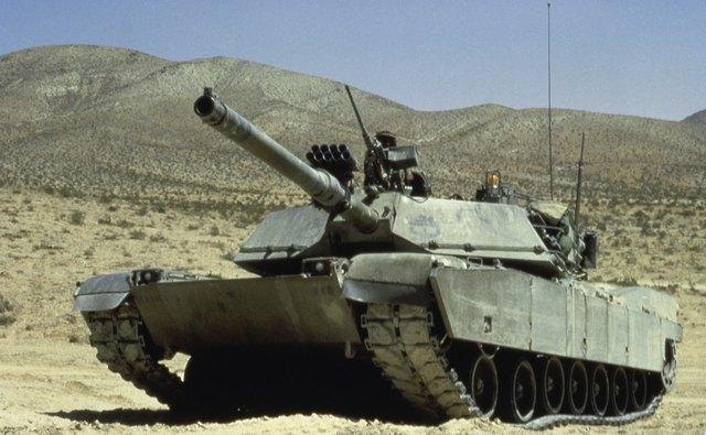M-1 Abrams tank in the desert