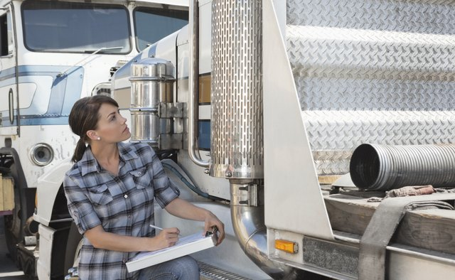 Trucker with truck